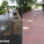 stamp concrete and overlay